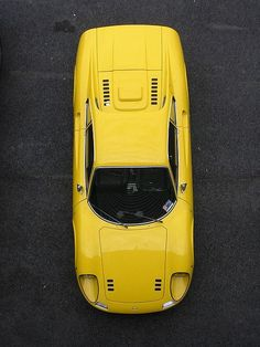 Yellow Ferrari Dino, as far as shapes go this is a shape
