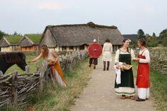 Reenactors at the Ribe Viking Center