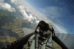 It's a nice view from the backseat of an F-16. This one belongs to the 119th Fighter Squadron, New Jersey Air National Guard.