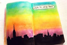 Color this entire page, wreck this journal