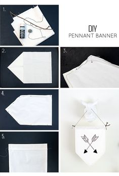DIY pennant banner tutorial
