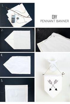 DIY pennant banner tutorial
