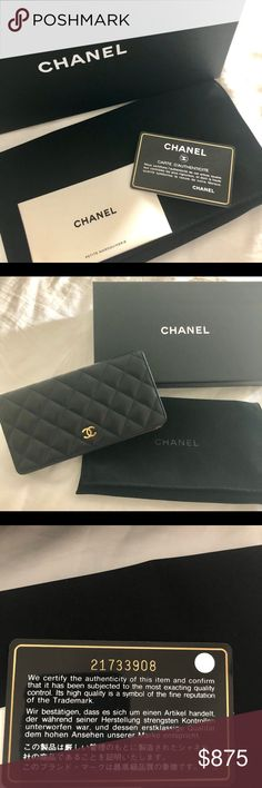 11a219fa7f0b Chanel Quilted Caviar Leather Wallet CHANEL - New with tags never used -  Gold -Tone