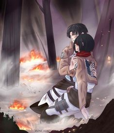 Brothers love each other. no matter what. Attack On Titan Ships, Attack On Titan Fanart, Attack On Titan Levi, Naruto Shippuden Anime, Anime Naruto, Levi Titan, Manga, Eren X Mikasa, Aot Characters