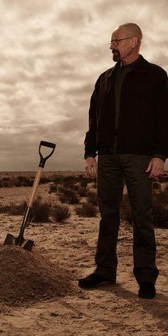 Breaking Bad, Walther White, Heisenberg, clouds, desert, digging, great tv series, photo.