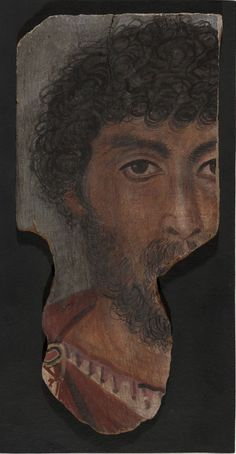 Funerary mummy portrait of a bearded man