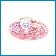Coral Mosaic Shell Engagement Ring Holder Dish Beach Themed Decor - Venue and reception decor (*Amazon Partner-Link)
