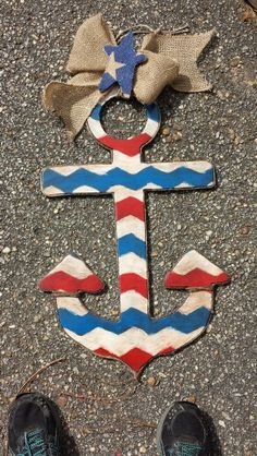 Rustic anchor  to hang on the front door