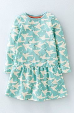 Mini Boden 'The Sweatshirt' Brushed Cotton Blend Dress (Toddler Girls, Little Girls & Big Girls)