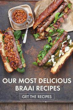 24 Best Braai Recipes - Fire Up Those Coals South African Dishes, South African Recipes, South African Braai, Ethnic Recipes, Africa Recipes, Lamb Chop Recipes, Sausage Recipes, Braai Recipes, Cooking Recipes