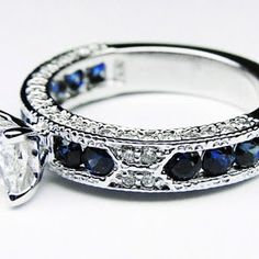 OH MY GOSH!! I LOVE THIS RING!!!! Something Blue Wedding Ideas - Blue Sapphire Wedding Ring