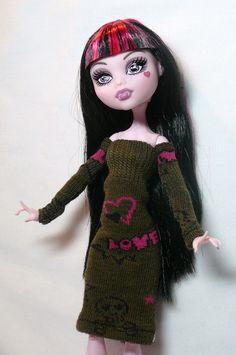 Monster High Doll Clothes Graffiti Dress