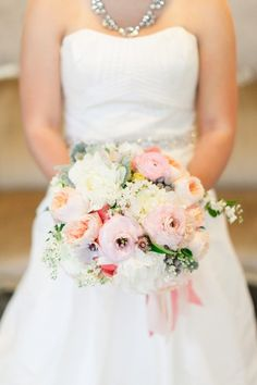Spring wedding bouquet idea {Holly Heider Chapple Flowers Ltd}