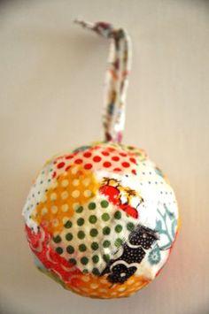 Scrap fabric ornaments