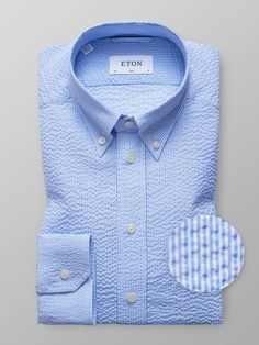 Slim Fit shirts from Eton are designed for a modern shirt silhouette. The shirts generate an elegant drape without causing discomfort. Outfits With Striped Shirts, Seersucker Shirt, Formal Shirts For Men, Clothing Photography, Floral Print Shirt, Dobby, Workout Shirts, Printed Shirts, Shirt Style