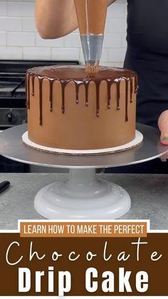 How to Make a Chocolate Drip Cake: Easy Recipe & Video Tutorial