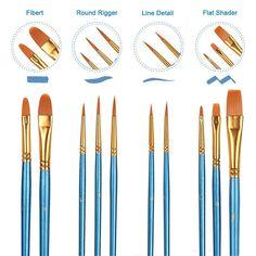 9850SET3 Princeton 4-Piece Snap!™ Short-Handle Brush Set