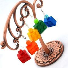 Lego earrings