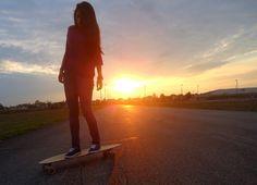 Longboarder sunset