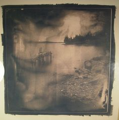 cyanotype glass plate spry harbour por gwardphoto en Flickr