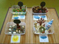 pourquoi à construire toute l'année Weather Art, English Lessons, Science And Nature, Four Seasons, Botany, Montessori, Homeschool, Inspiration, Frames