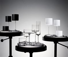 Exclusive Crystal Glassware Collection Reflects Timeless Elegance by Karl Lagerfeld Karl Lagerfeld, Paper Table, Crystal Glassware, Glass Collection, Glass Design, Home Accessories, Designer, Home Goods, Signs