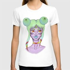 Original Art T-Shirt Women's Fitted  Hand by ShelleysCrochetOle