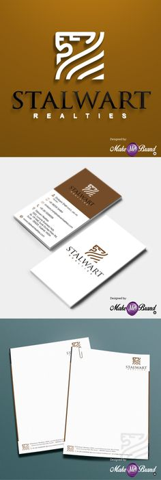 Brand Identity Designed for Stalwart Realties. #businesslogo #logo #branding #brandidentitydesign #identitydesign #india #brand