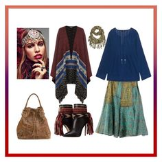 """""""a little bit of gypsy girl"""" by miracle-child-1 on Polyvore featuring Mila Blu, WearAll, Dsquared2, Steffen Schraut and Rock 'N Rose"""