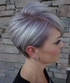 20 Latest Short Hair In The Autumn Of 2019 Page 3 of 11 BeautyMe Short Grey Hair autumn BeautyMe Hair Latest Page Short Pixie Hairstyles, Pixie Haircut, Short Hairstyles For Women, Short Haircuts, Gray Hairstyles, Short Grey Hair, Back Of Short Hair, Short Hair Cuts For Women Over 50, Grey Hair Over 50