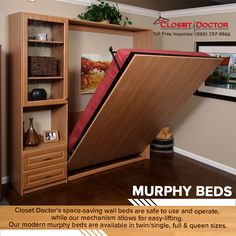 More details on Closet Doctor Wall Beds at: https://www.closet-doctor.com/murphy-beds/dimensions