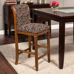 Product Details Leopard Print Bar Stool In 2019 Bar
