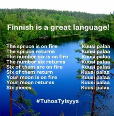 Finnish is a great language! Funny Facts, Funny Quotes, Learn Finnish, Finnish Words, Finnish Language, Funny Pick, Finland Travel, Scandinavian Countries, Language Study