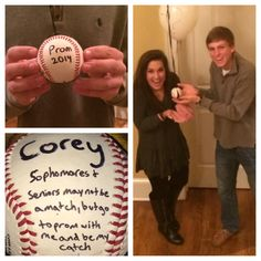#Baseball Promposal #Best #Cute He's a sophomore.... she's a senior... she said yes! Seriously the cutest!!