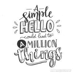 """Marijke Vanhommerig on Instagram: """"Dag 31 #dutchlettering van januari 2018. . . . . . . . . . . . #typography #calligraphy #brushcalligraphy #brushlettering #quote #lettering…"""""""