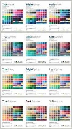 colour palettes, SCI/Art system 12 colour types, Invent Your Image, www.inventyourimage.com