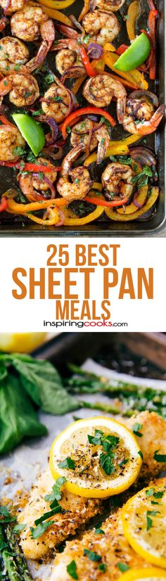 25 of the Best Sheet Pan Meals Recipes on Pinterest