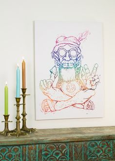 Chuck the Hippie Canvas Art