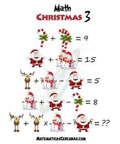 Math Quizzes, 1st Grade Math Worksheets, Math Games, Math Activities, Christmas Math, Christmas Holidays, Christmas Decorations, Learning Numbers Preschool, Math Talk
