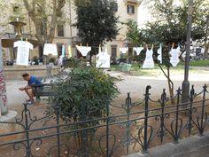 Il parco dei panni poetici in via Arenula, Roma. #nomenomen