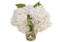 """12"""" Hydrangea in Vase, Faux. $119"""