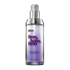 @Overstock.com - Gardenia stem cells, cell-targeting peptides and phyto-retinoids in this high-performance formula boost collagen and plump skin's hollow areas from the inside out. Firm, Baby, Firm corrects and prevents the appearance of fine lines and wrinkles.http://www.overstock.com/Health-Beauty/Bliss-Firm-Baby-Firm-Dual-action-Lifting-Volumizing-Serum/7876866/product.html?CID=214117 $65.36