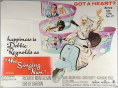 THE SINGING NUN  Original 1966 British Quad (30 x 40) Theatrical Movie Poster.  Starring: Debbie Reynolds  Directed: Henry Koster  Based on a true story, this film follows the events that befall a Belgian nun when she writes a song, for a neglected little boy, that becomes an international sensation. After she is featured on the Ed Sullivan Show, she must struggle to find a way to resolve her religious life and her singing career.  This RARE poster is in EXCELLENT condition.  This is an…
