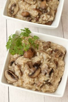 Creamy and rich vegan mushroom risotto. A perfect savory entree, ready in 45 minutes!