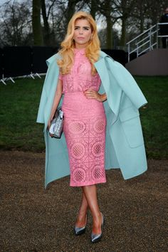 The Terrier and Lobster: Look of the Week: Paloma Faith in Pastel Burberry Prorsum Spring 2014