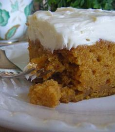 Oooh, yum! Recipe for pumpkin bars with cream-cheese icing, from Angela Tunner of The Renaissance Gourmet