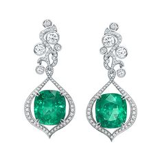Boodles Greenfire Collection: Emerald and Diamond Earrings
