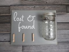 lost and found laundry room decor