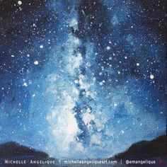 Starry Sky acrylic painting by Michelle Angelique