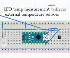 Using the Arduino microcontroller I have devised a method of using the voltage produced by a power LED to measure its own temperature to within +- 10 °C without the need for an external temperature sensor e.g. thermocouple, thermistor or digital sensor. In this instructable I explain the details of my idea as well as the code and how to implement this in an existing system. As far as I know I am the first person to implement this idea and I am planning on entering it into the Google Scien...